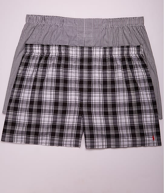 Polo Ralph Lauren: Classic Big & Tall Cotton Woven Boxers 2-Pack