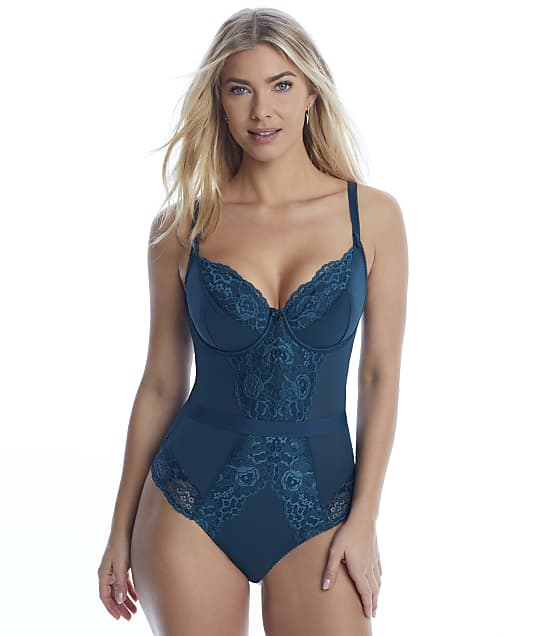 Pour Moi Opulence Bodysuit in Forest(Front Views) 11510