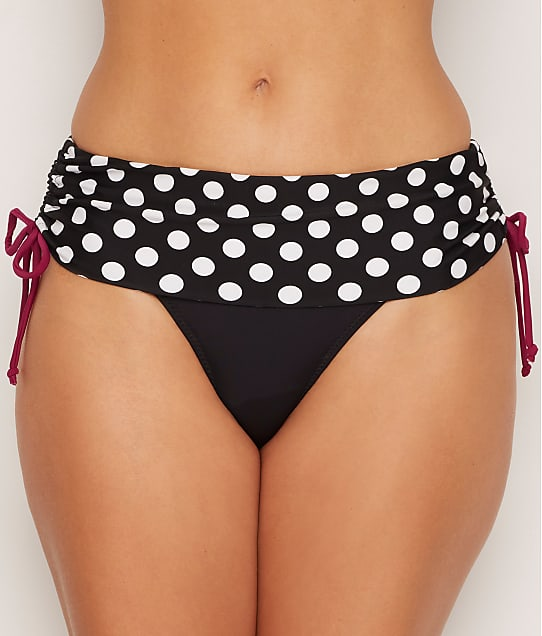 Pour Moi: Sea Breeze Spot Fold-Over Bikini Bottom