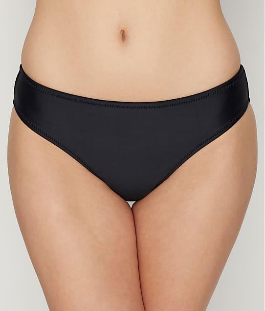 Pour Moi: Long Beach Solid Black Bikini Bottom