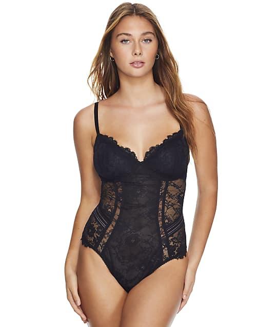 Pour Moi Revolution Lace Underwire Bodysuit in Black 21609-B