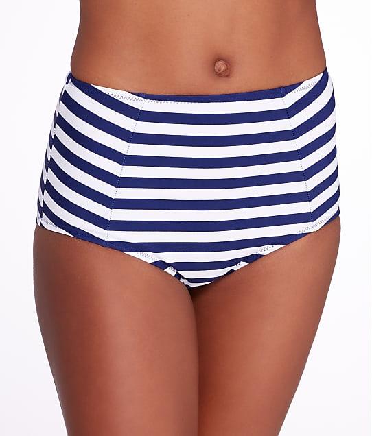 Pour Moi Boardwalk Control Bikini Bottom in Navy Stripe 32003
