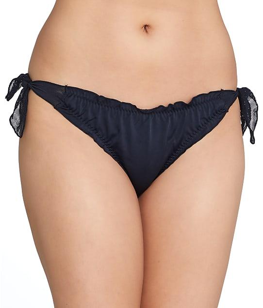 Pour Moi: Mesh It Up Side Tie Frill Bikini Bottom
