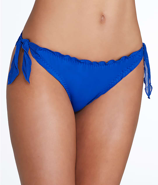 Pour Moi: Mesh It Up Side Tie Frill Bikini Bottom
