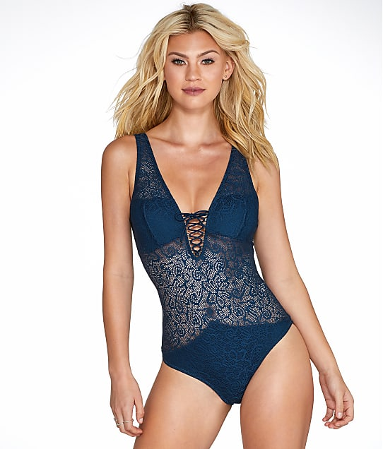 Pour Moi: Puerto Rico Lace-Up Wire-Free One-Piece