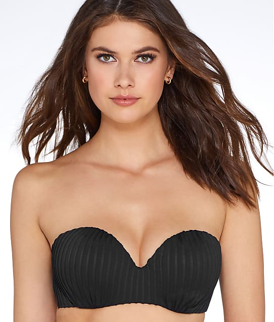 Pour Moi: Pleated Bandeau Bikini Top