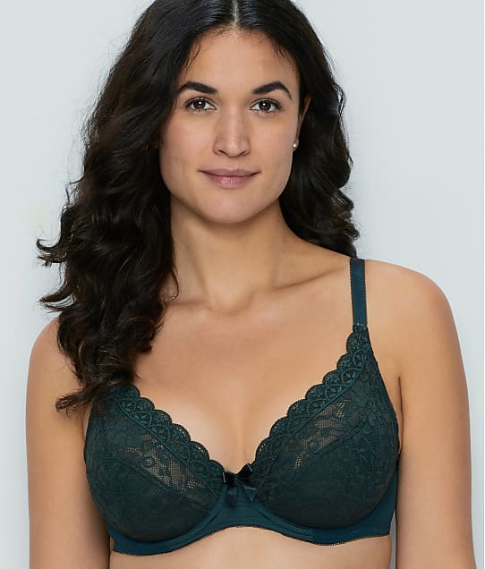 Pour Moi Rebel Plunge Bra in Forest(Front Views) 84002