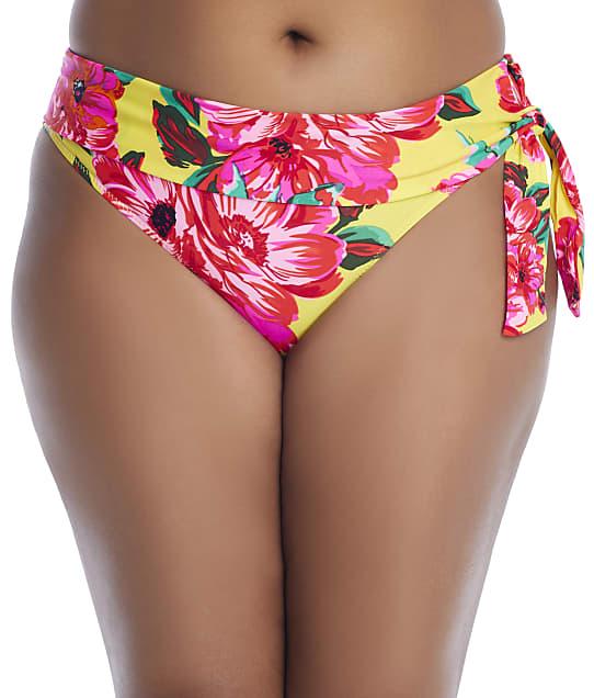 Pour Moi Heatwave Mimosa Fold-Over Bikini Bottom in Mimosa(Front Views) 86003-MIMO