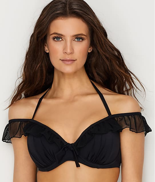 Pour Moi: Mardi Gras Off-The-Shoulder Bikini Top