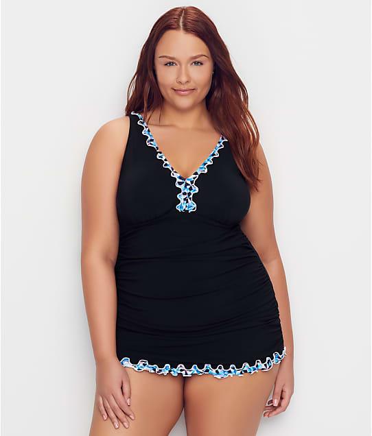 Profile by Gottex: Plus Size Pinwheel Swim Dress