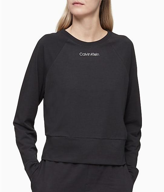 Calvin Klein Knit Crew Neck Lounge Sweatshirt in Black(Full Sets) QS6702