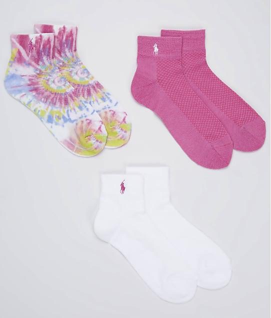 Ralph Lauren: Tie Dye Ankle Socks 3-Pack