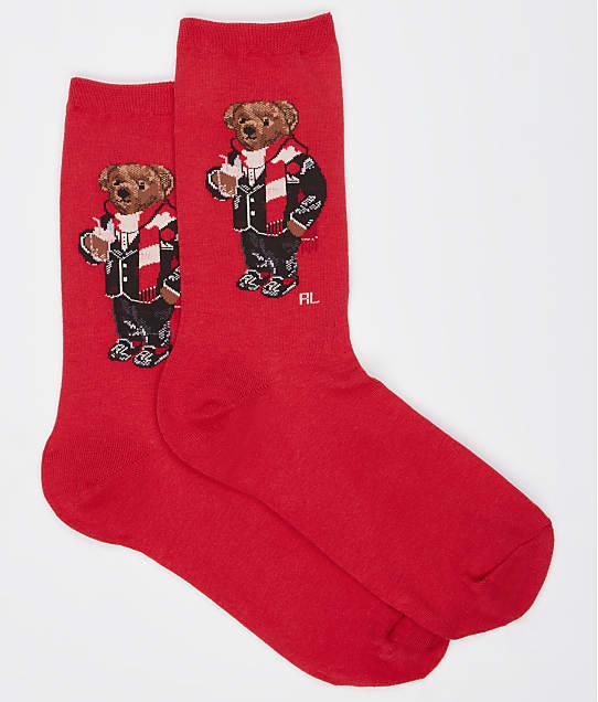 Ralph Lauren: Hot Cocoa Bear Trouser Socks