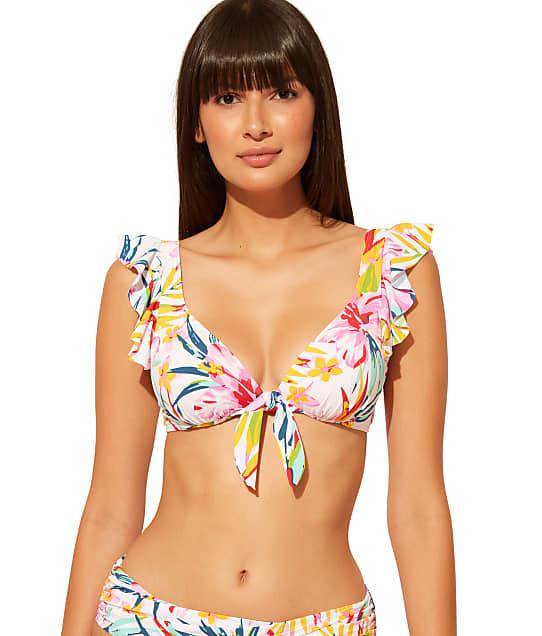Bleu Rod Beattie Beachy Keen Underwire Ruffle Bikini Top in Multi(Front Views) RBBK2117