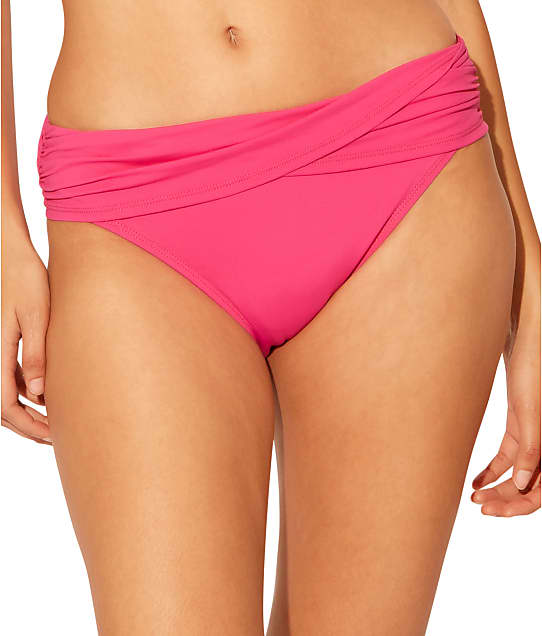 Bleu Rod Beattie James Bonded Sarong Bikini Bottom in Think Pink RBKK00511