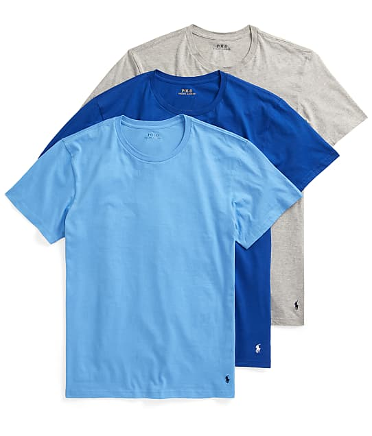 Polo Ralph Lauren Classic Fit Cotton T-Shirt 3-Pack in Blue / Royal / Grey(Front Views) RCCNP3