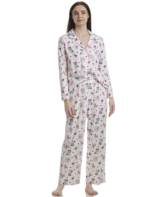 Karen Neuburger: Cream Dogs Knit Pajama Set