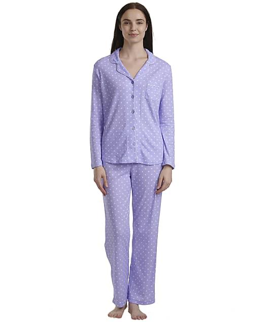 Karen Neuburger: Purple Dot Knit Pajama Set