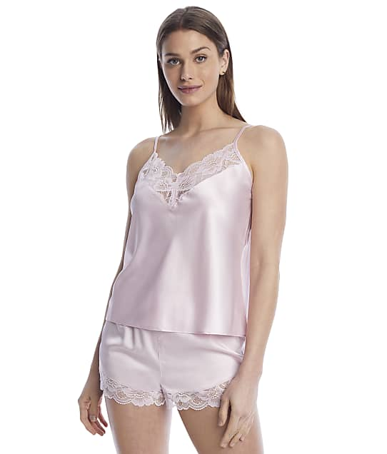 Reveal Satin And Lace Cami Pajama Set in Blush(Full Sets) R0049