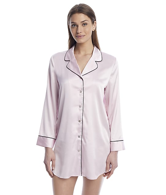 Reveal Washed Satin Sleep Shirt in Blush(Full Sets) REES34