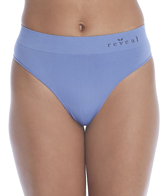 Reveal Seamless High-Waist Thong in Slate Blue(Front Views) RRS004