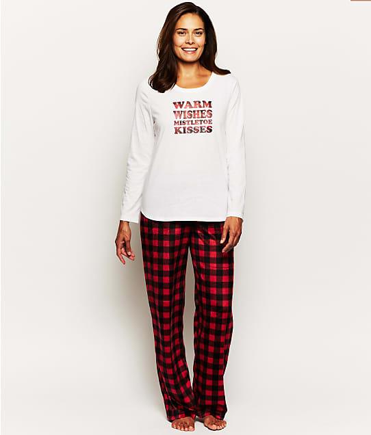 Karen Neuburger: Warm Wishes Plaid Fleece Pajama Set