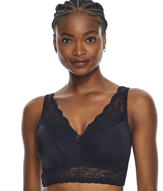 Rhonda Shear Leisure Lace Bralette in Black 672P