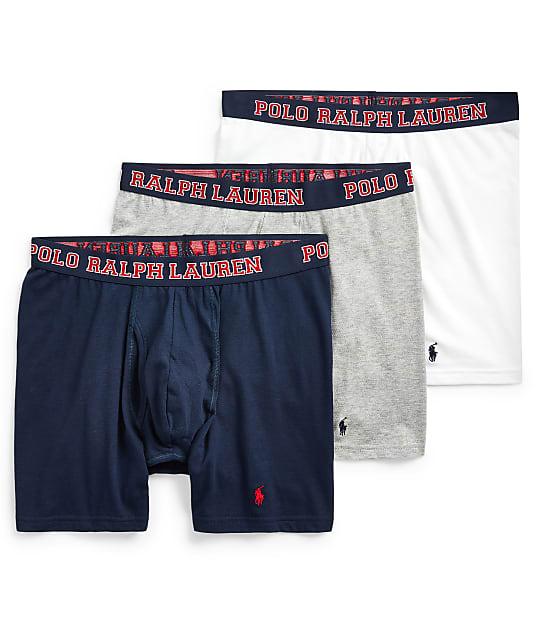Polo Ralph Lauren 4-D Flex Breathable Mesh Boxer Brief 3-Pack in Royal Bermuda RMBBP3