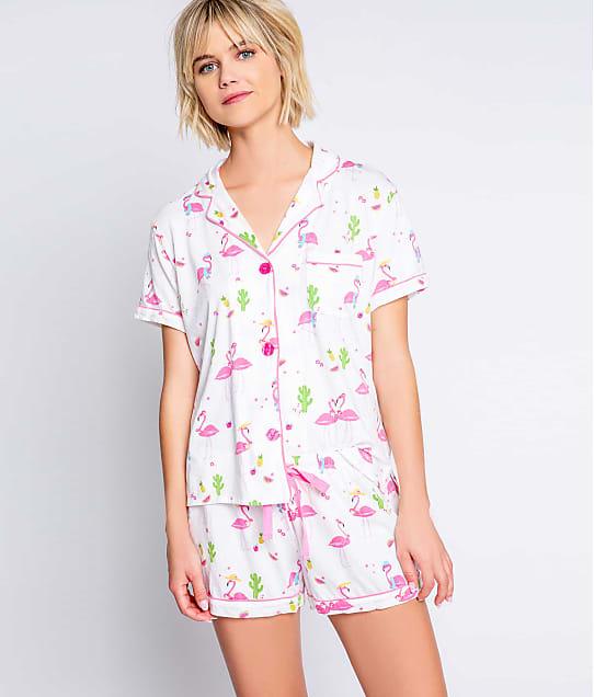 P.J. Salvage: Playful Prints Flamingo Knit Pajama Set