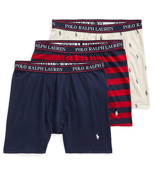 Polo Ralph Lauren: Classic Fit Cotton Boxer Brief 3-Pack