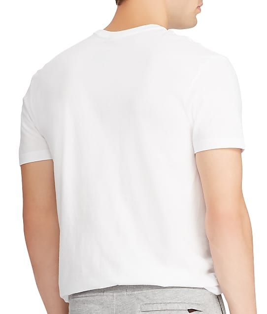 Polo Ralph Lauren Big & Tall Crew Neck T-shirt 2-Pack in White(Back Views) RXCNP2