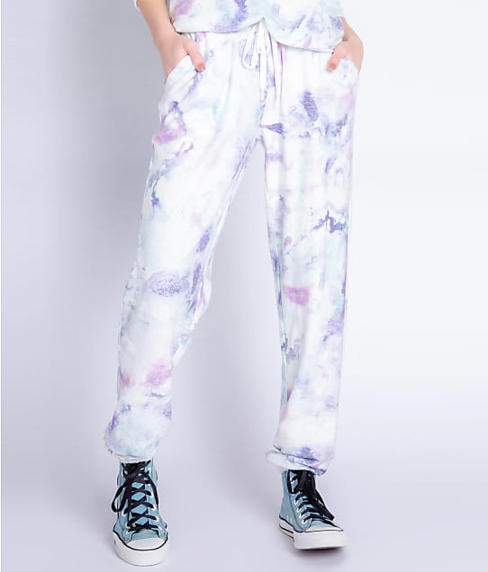 P.J. Salvage Melting Crayons Knit Joggers in Sea Blue RXMCP
