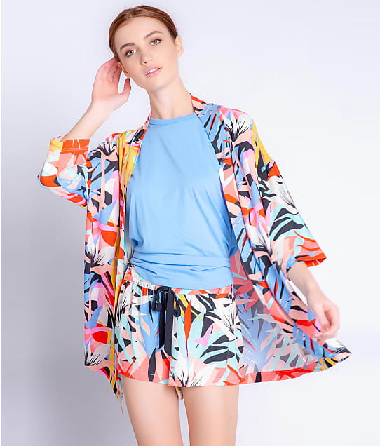 P.J. Salvage Tropical Staycation Sateen Robe in Multi(Full Sets) RXTSJ