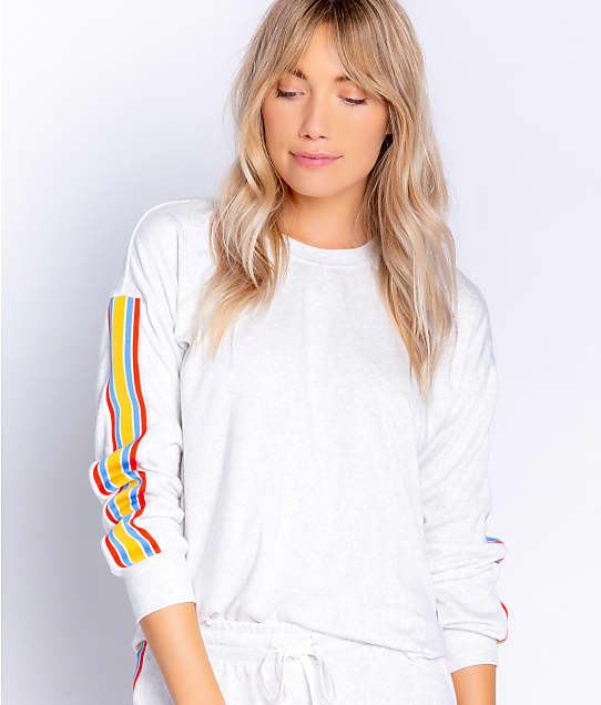 P.J. Salvage Sun Out Knit Lounge Top in Cloud RYSOLS