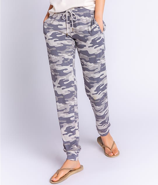 P.J. Salvage Camo Cool Knit Joggers in Moon Grey RZCCP