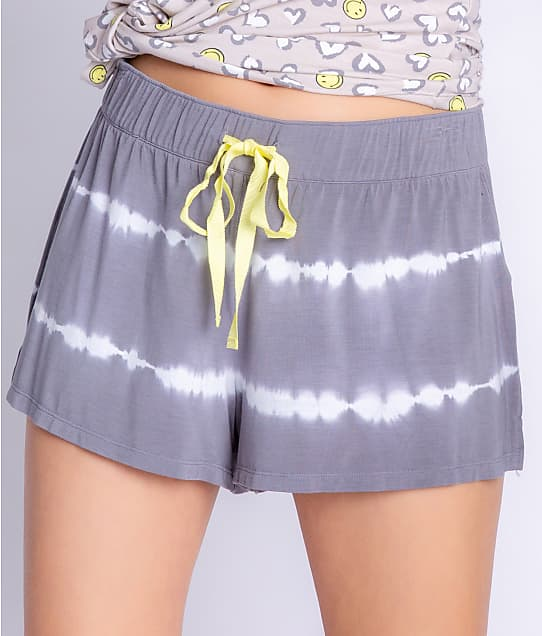 P.J. Salvage Happy Days Modal Knit Shorts in Charcoal RZHDS