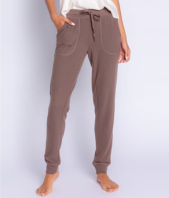 P.J. Salvage Peachy In Color Banded Knit Joggers in Cocoa RZPCP