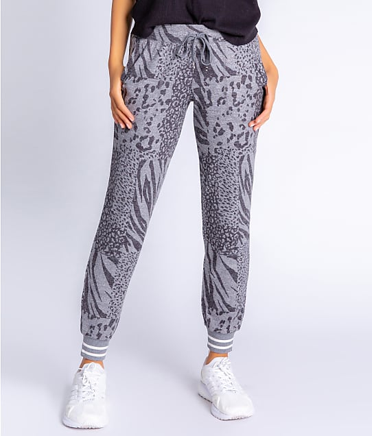 P.J. Salvage Patch Perfect Banded Knit Joggers in Charcoal RZPPP