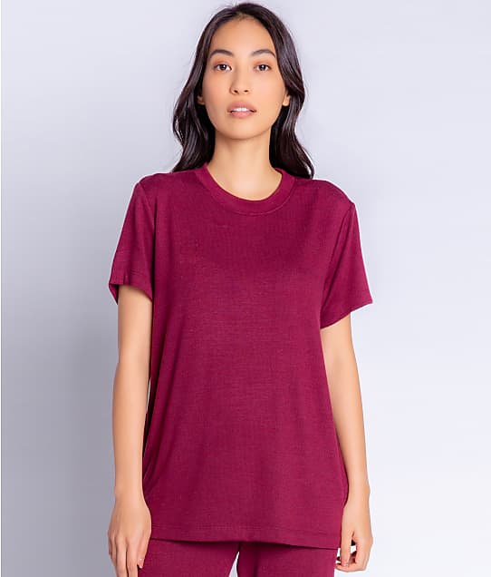 P.J. Salvage Reloved Lounge Knit Top in Port RZRLT