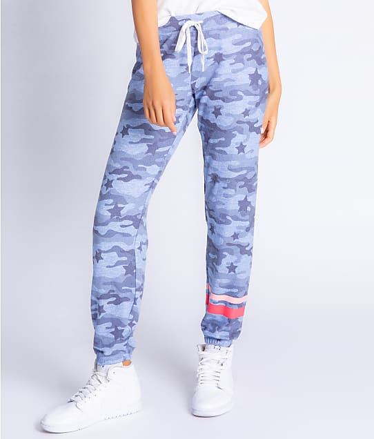 P.J. Salvage Starlight Banded Knit Joggers in Denim(Full Sets) RZSHP
