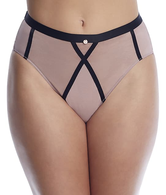 Scantilly by Curvy Kate: Sheer Chic High-Waist Brief