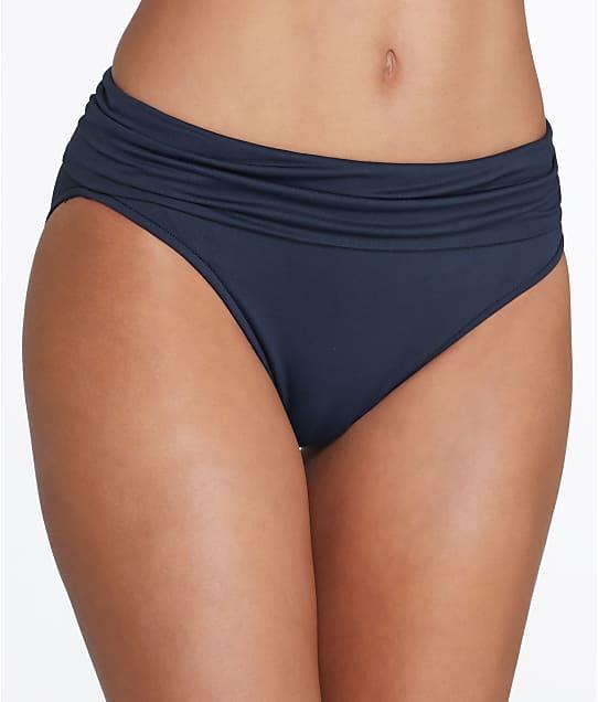 Seafolly: Solid Fold-Over Bikini Bottom