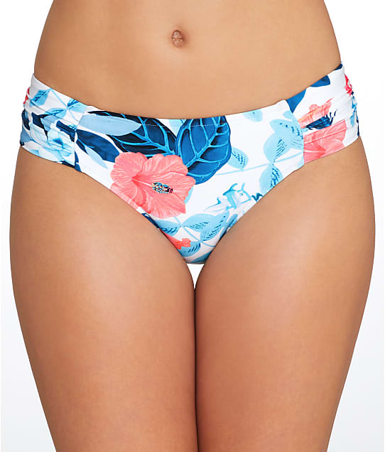 Seafolly: Tropical Vacay Side Shirred Bikini Bottom
