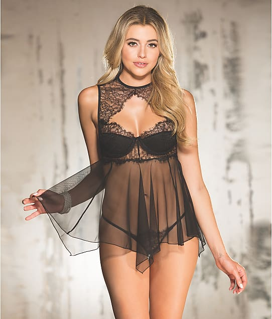 Shirley of Hollywood: Eyelash Lace Babydoll Set