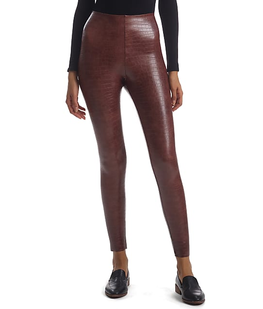 Commando: Perfect Control Faux Leather Animal Leggings