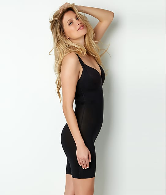 SPANX Trust Your Thinstincts Open-Bust Bodysuit in Very Black(Front Views) 10021R