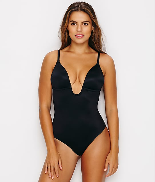 SPANX Suit Your Fancy Convertible Thong Bodysuit in Very Black(Front Views) 10206R