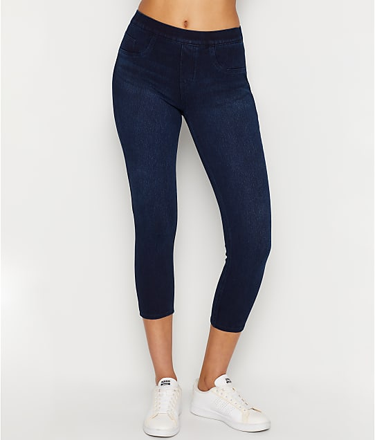 SPANX Medium Control Jeanish Cropped Leggings in Twilight Rinse(Front Views) 20114R