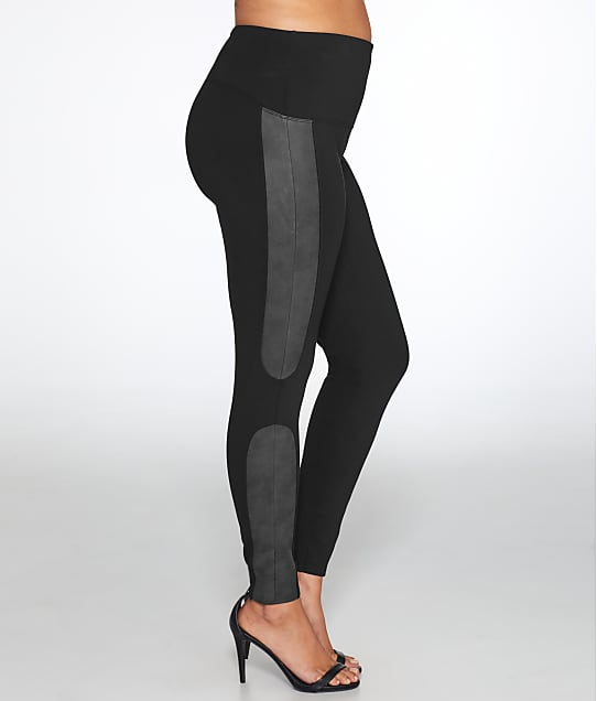 SPANX: Plus Size Faux Leather Panel Ponte Leggings