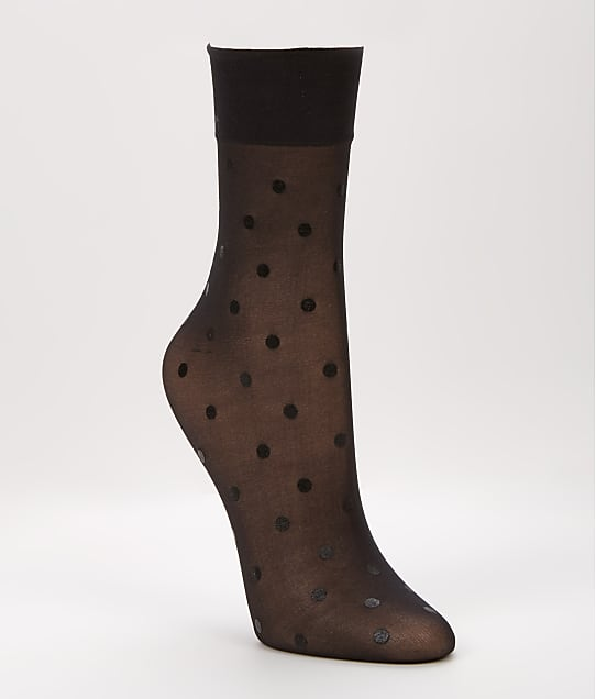 SPANX: Flocked Dot Half-Calf Socks
